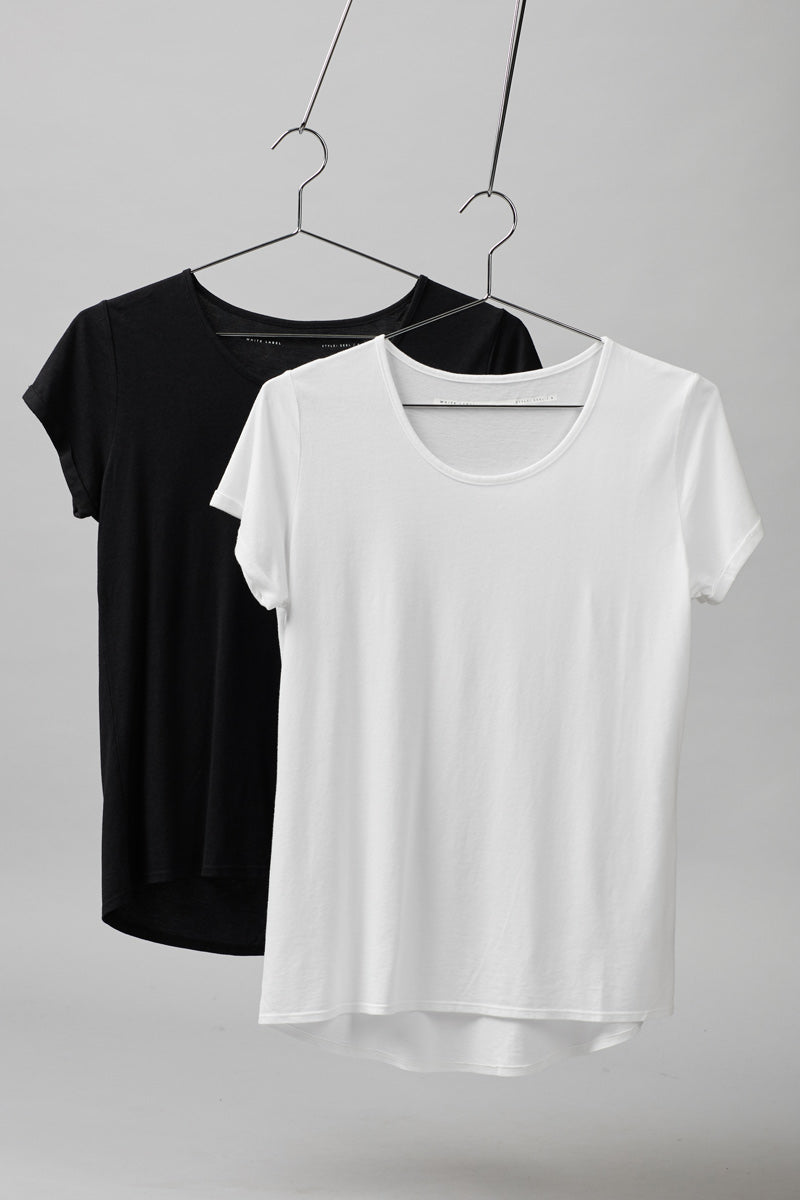 BLACK SEEL BAMBOO COTTON TEE
