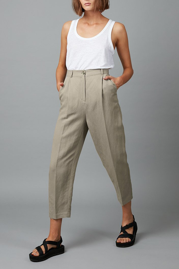 CEMENT LINEN FLOAT PANT - Nique Clothing