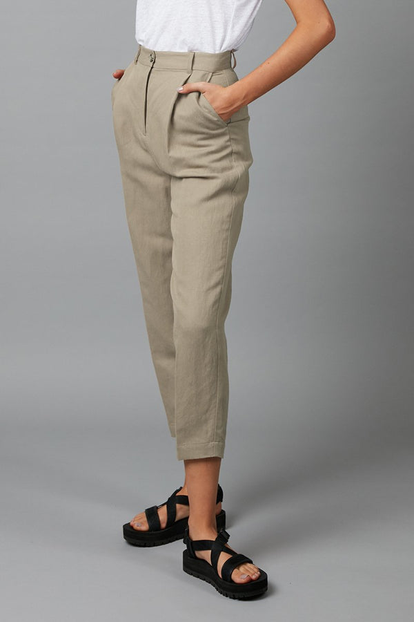 CEMENT LINEN FLOAT PANT