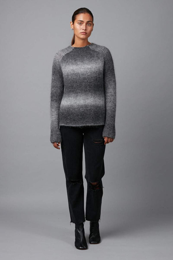 CHARCOAL FUDO GRADIENT KNIT - Nique Clothing