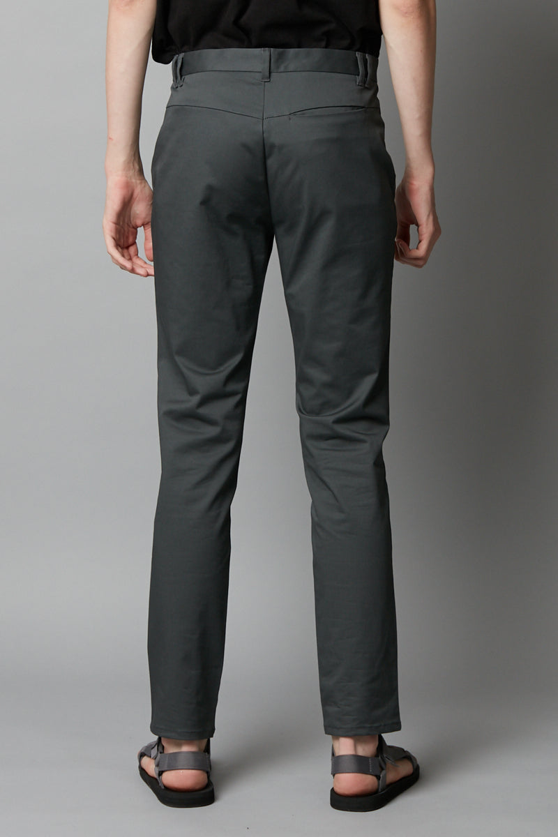 GREY SLIM STRAIGHT CHINO