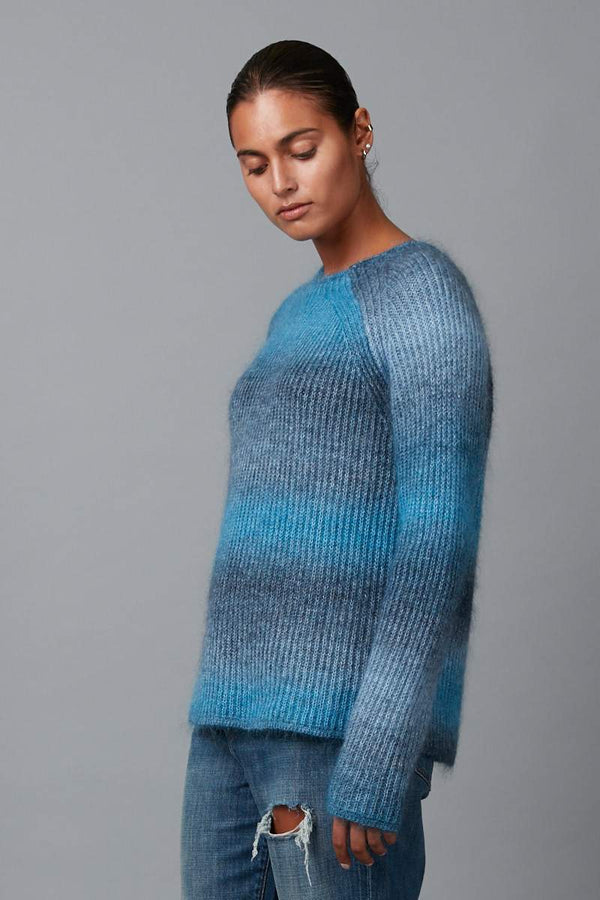 BLUE  FUDO GRADIENT KNIT - Nique Clothing