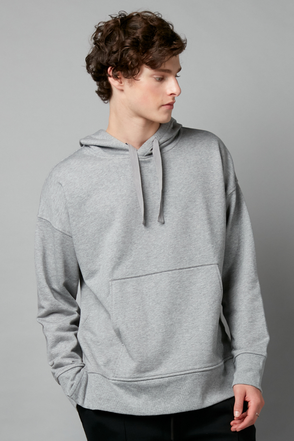 Grey Zuro Cotton Hooded Jumper