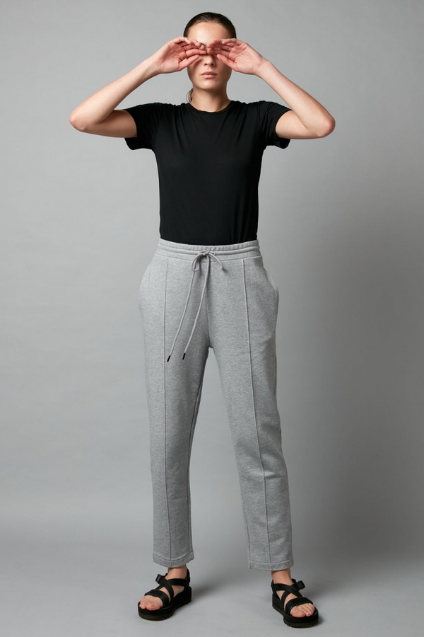Grey Thriller Cotton Sporty Pants