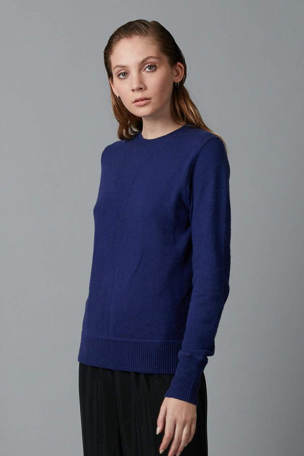 ELECTRIC BLUE HIKARI COTTON WOOL BLEND KNIT