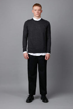CHARCOAL HAIRO CASHMERE WOOL KNIT - Nique Clothing