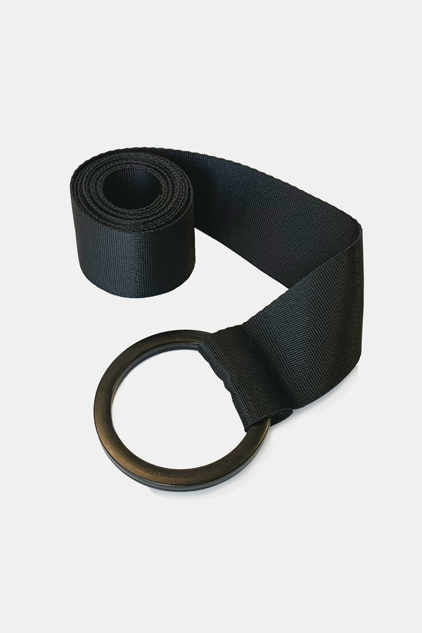 BLACK CIRCLE BUCKLE BELT