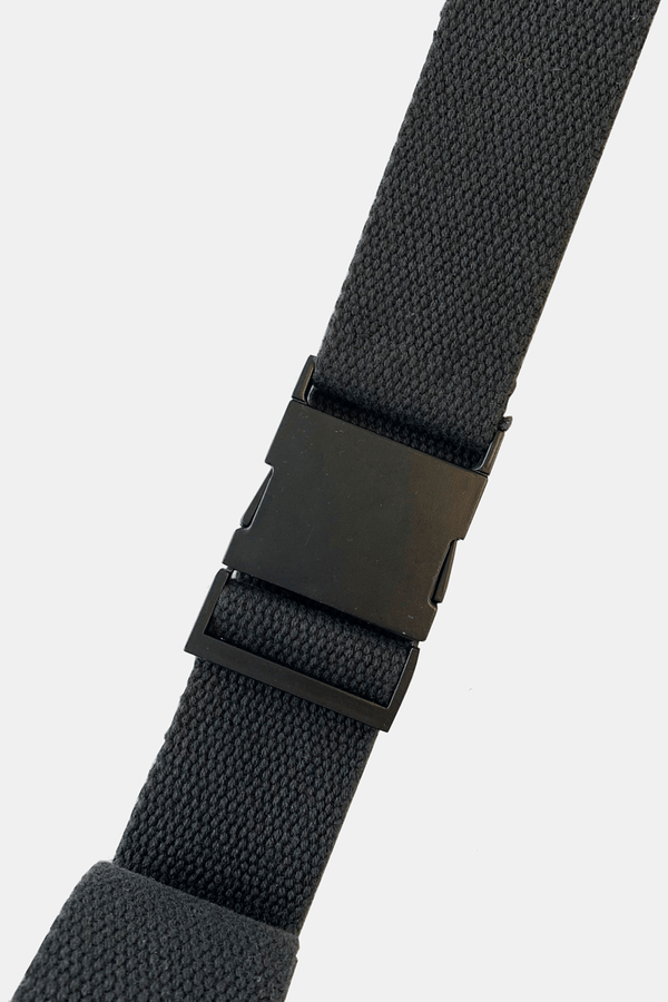 BLACK SQUARE BUCKLE BELT - Nique Clothing