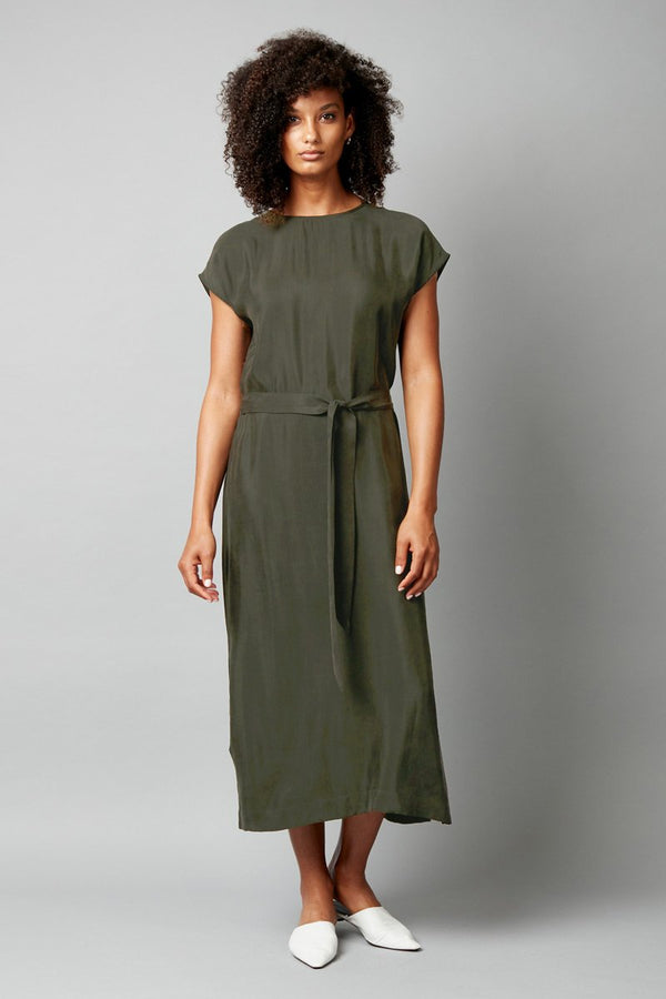 KHAKI CUPRO ESCAPE DRESS