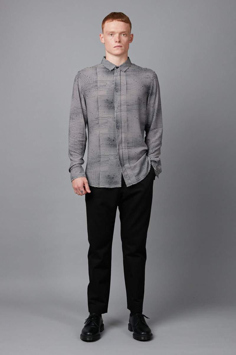 KUTO PRINT SLIM LONG SLEEVE SHIRT