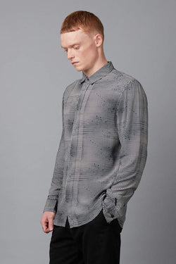 KUTO PRINT SLIM LONG SLEEVE SHIRT - Nique Clothing