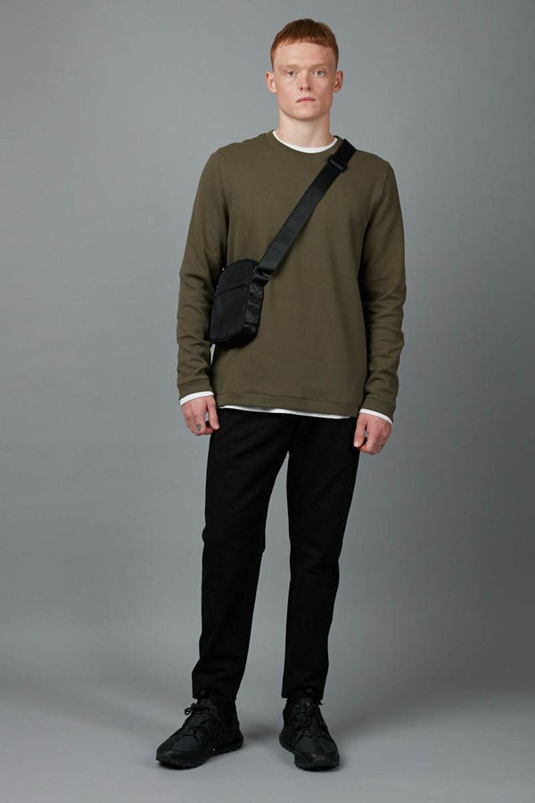 UTILITY GREEN MATSUDA TEXTURED SWEATER - Nique Clothing