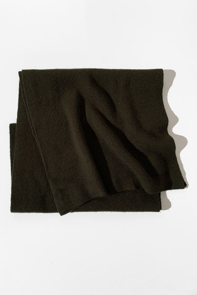 KHAKI MERINO WOOL IEKO SCARF - Nique Clothing