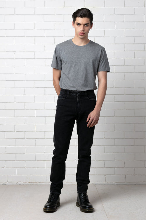 AGED BLACK AMSTERDAM DENIM JEAN
