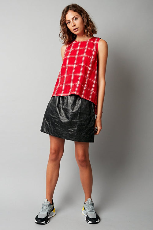 RED CHECK MIKO TANK