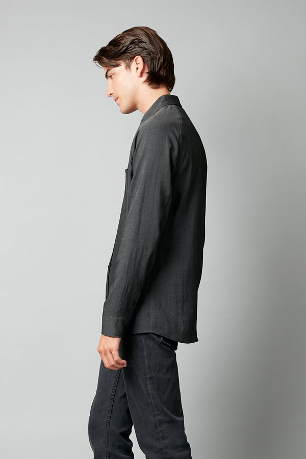 BLACK NIKAIDO SLIM LONG SLEEVE SHIRT - Nique Clothing