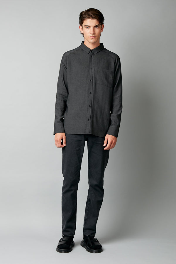 BLACK NIKAIDO SLIM LONG SLEEVE SHIRT
