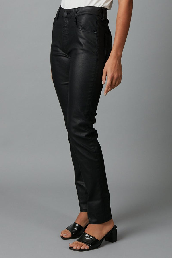 BLACK ANTWERP COATED DENIM JEAN - Nique Clothing
