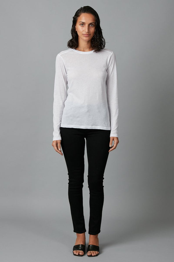 OFF WHITE KAZOKO COTTON LONG SLEEVE TEE - Nique Clothing