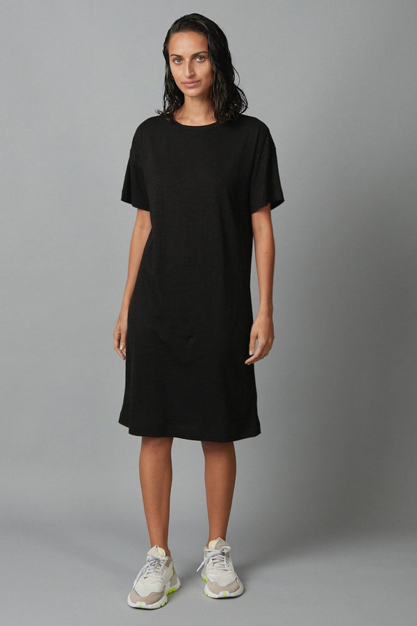 BLACK JOBEN HEMP COTTON TSHIRT DRESS - Nique Clothing