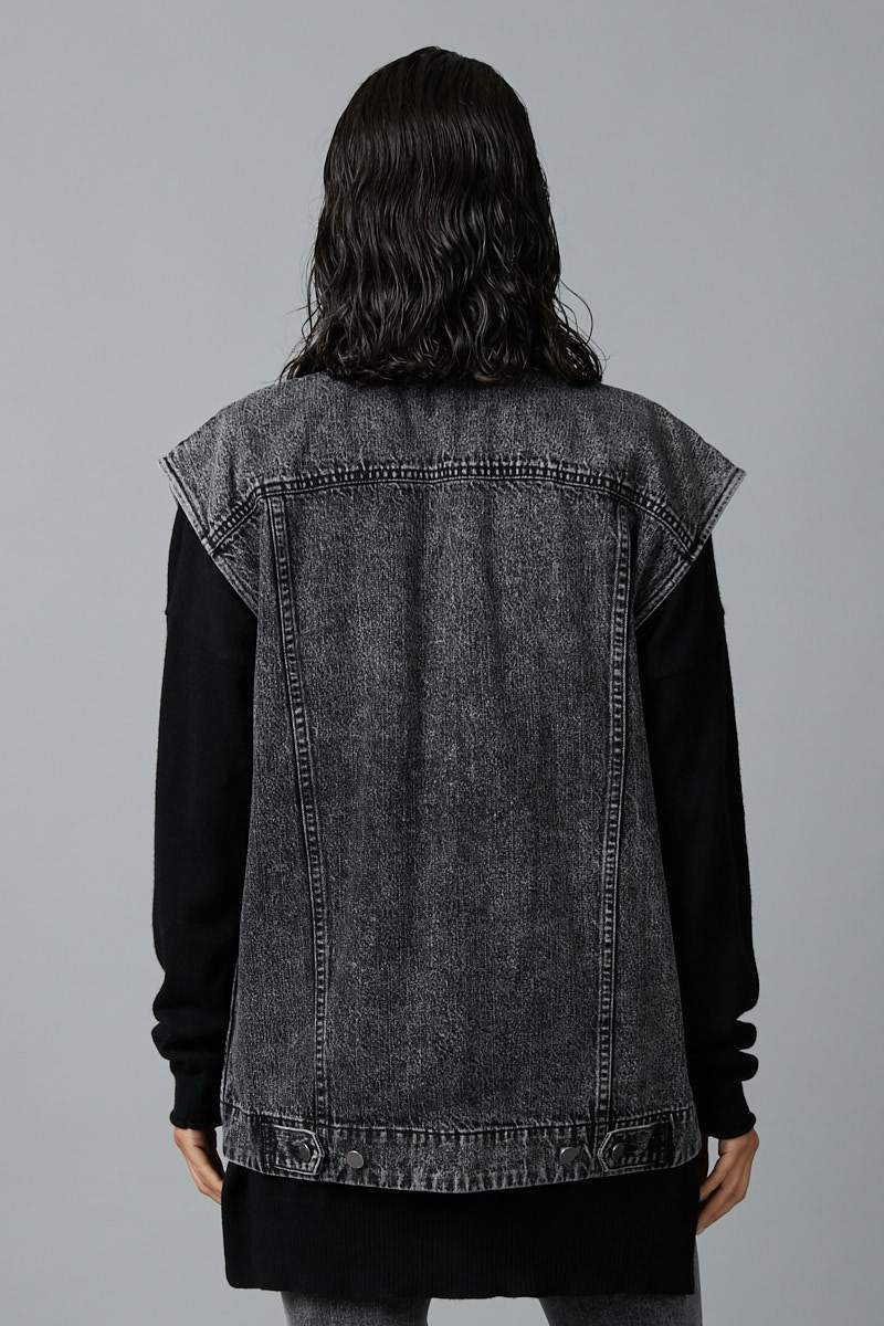 VIDEO WASH OTOKO OVERSIZED DENIM VEST