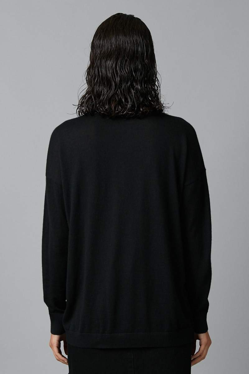 BLACK MICHI MERINO CASHMERE KNIT - Nique Clothing