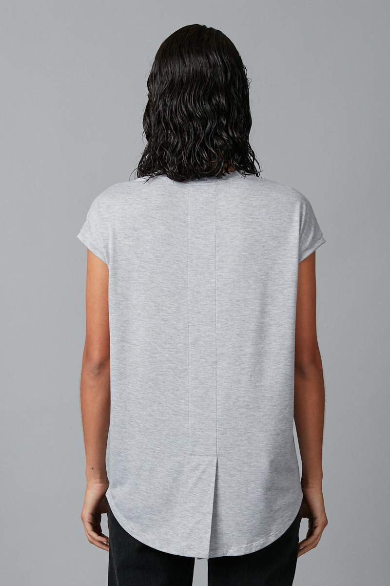 GREY MARL JIRO MODAL ELASTANE TEE - Nique Clothing
