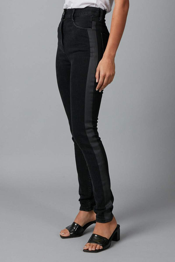 BLACK VIENNA HEAT SEALED ARCHITECT WASH DENIM JEANS - Nique Clothing