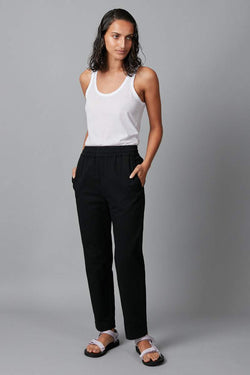 BLACK EMIYO COTTON PULL ON PANT