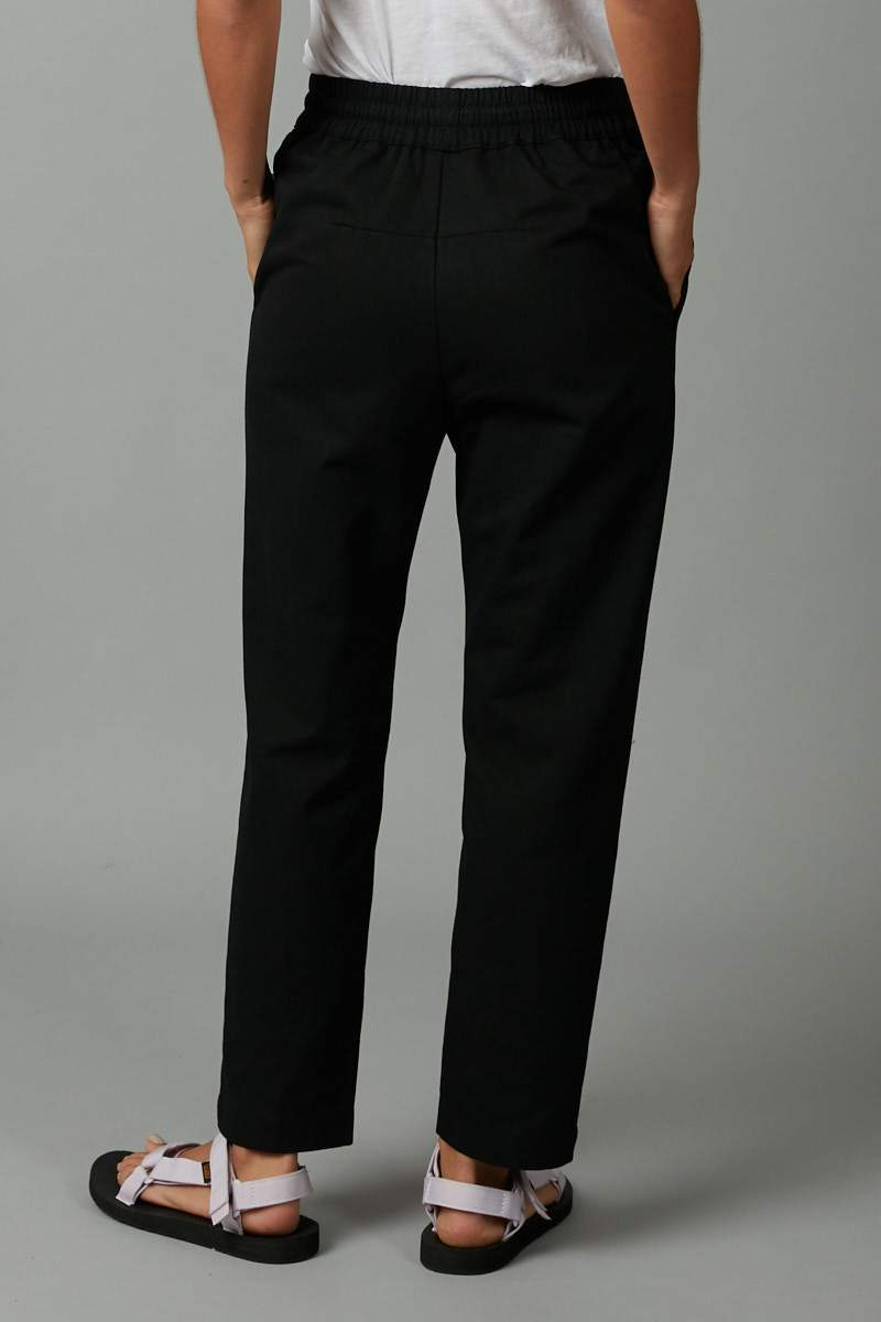 BLACK EMIYO COTTON PULL ON PANT - Nique Clothing