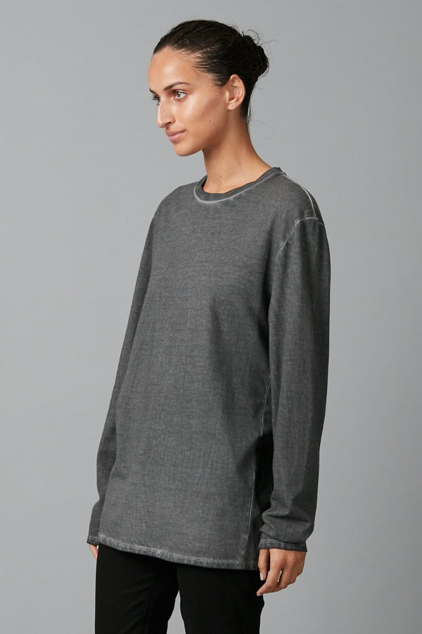 CHARCOAL SEKEI UNISEX LONG SLEEVE TEE - Nique Clothing