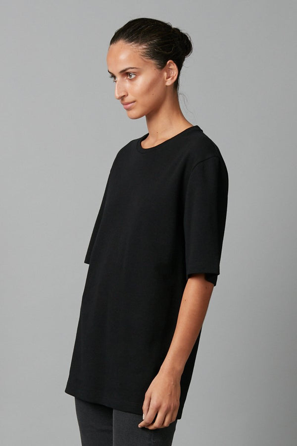 BLACK UNISEX ASAHI COTTON T-SHIRT
