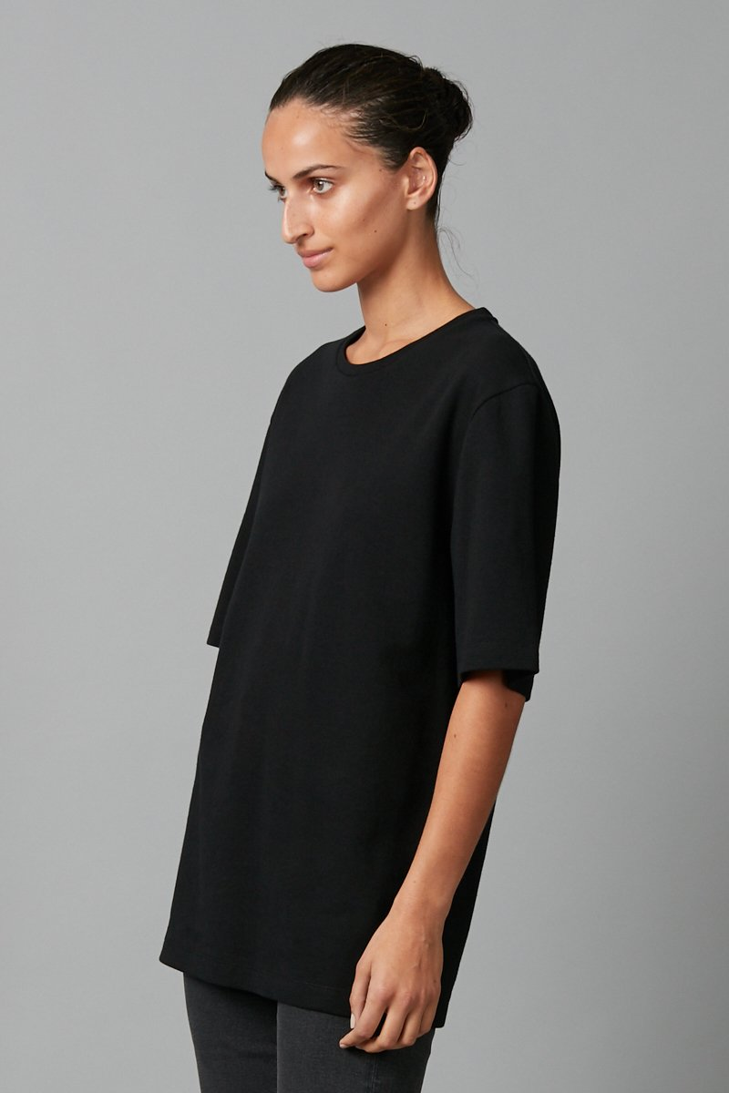 BLACK UNISEX ASAHI COTTON T-SHIRT - Nique Clothing