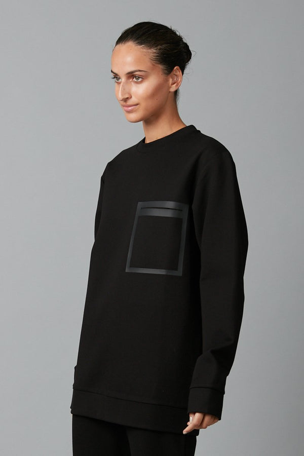 BLACK KOYUKI HEAT SEAL SWEATER - Nique Clothing