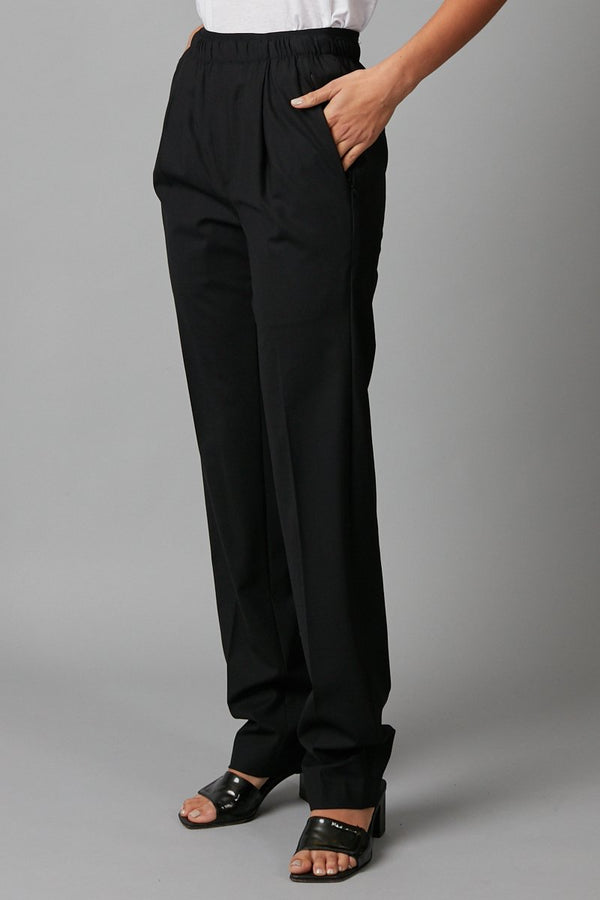 YUKO UNISEX ELASTICATED WAIST WOOL SUIT PANT - Nique Clothing