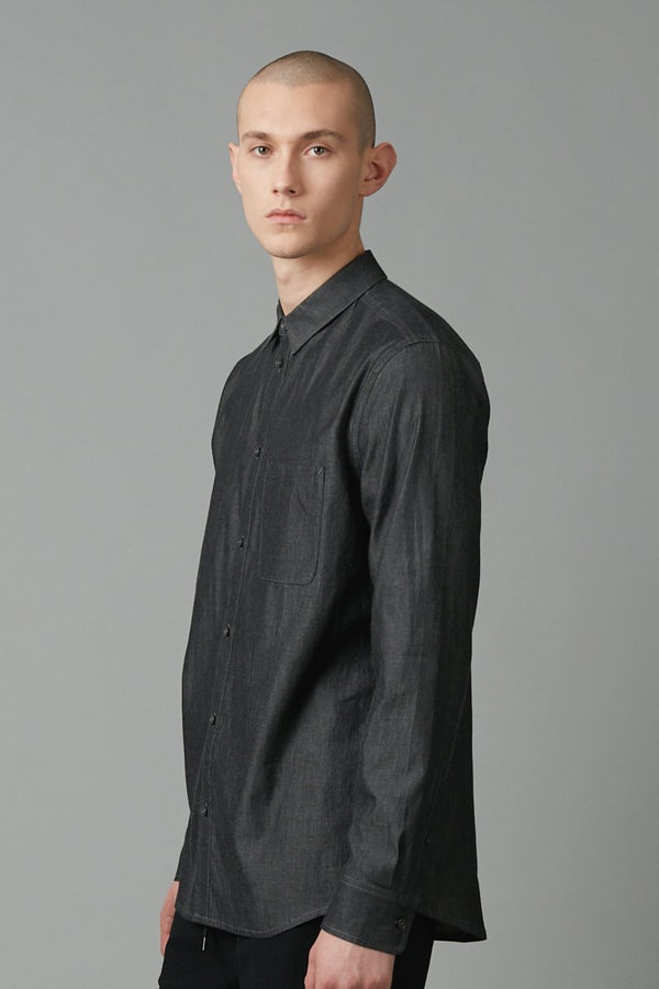 SLATE DENIM FLOYD DENIM REGULAR LONG SLEEVE SHIRT - Nique Clothing