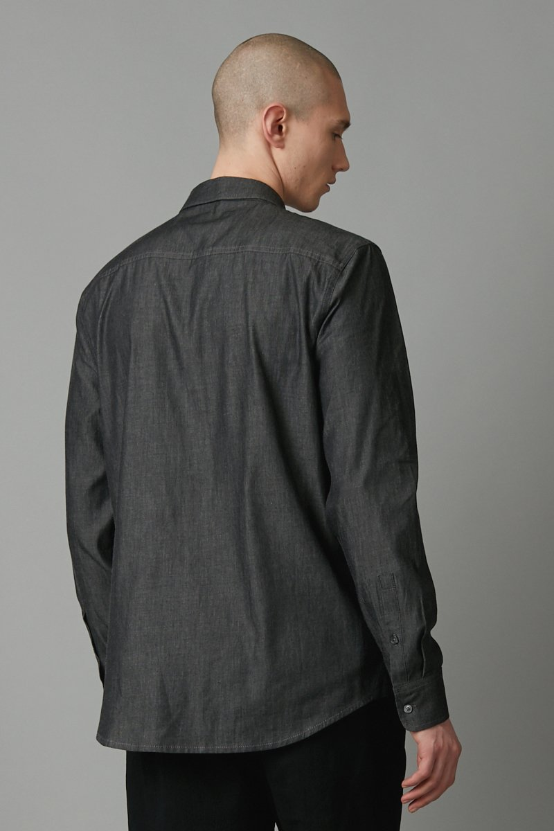 SLATE DENIM FLOYD DENIM REGULAR LONG SLEEVE SHIRT
