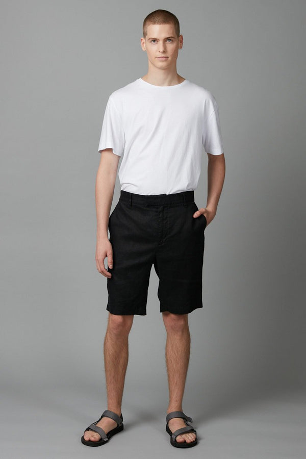 BLACK AMIKO LINEN SHORT - Nique Clothing
