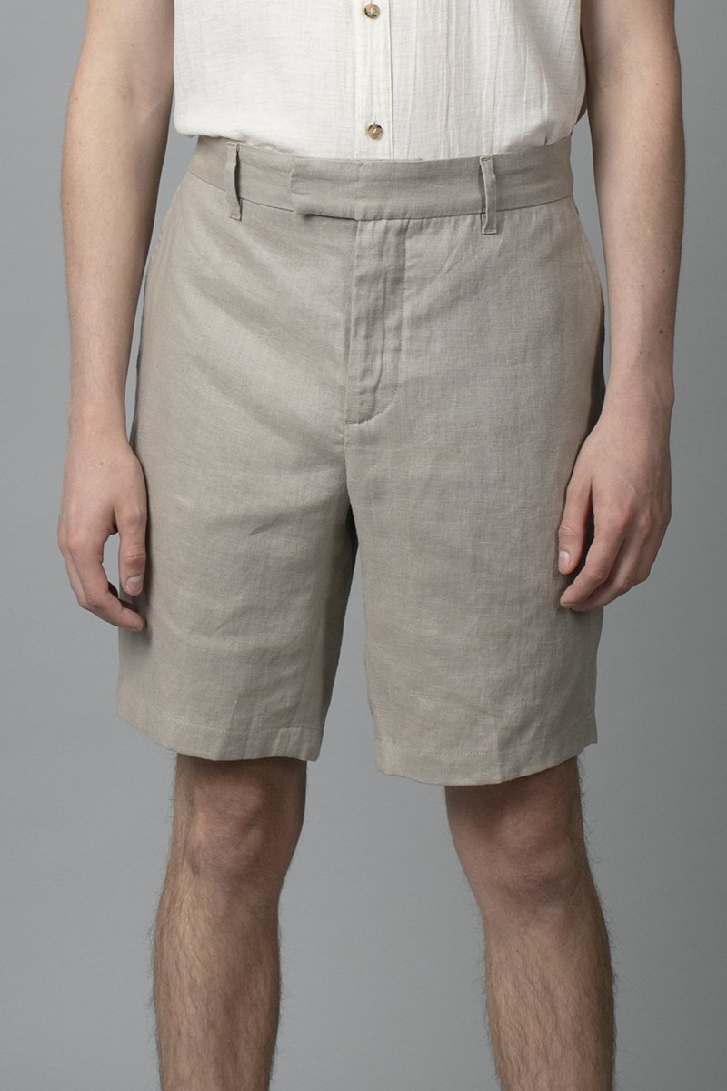 CEMENT AMIKO LINEN SHORT - Nique Clothing