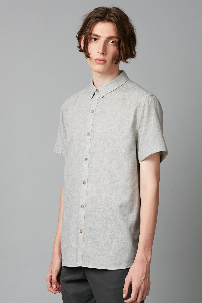 GREY TIVA SHORT SLEEVE SHIRT