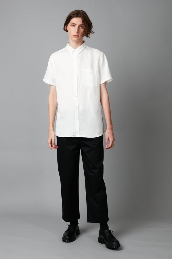 WHITE MAKI REGULAR SHORT SLEEVE SHIRT - Nique Clothing