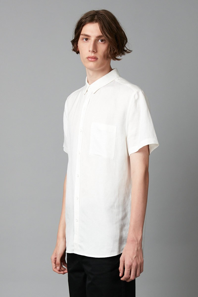 WHITE MAKI REGULAR SHORT SLEEVE SHIRT