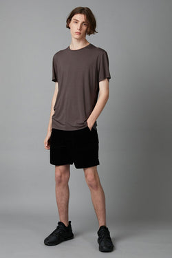SMOKE KHAKI TAIT BAMBOO COTTON TSHIRT - Nique Clothing