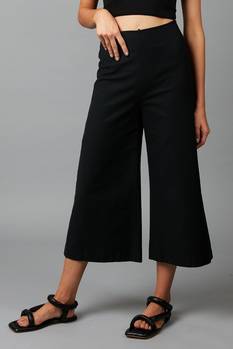 BLACK COTTON CHI PANT