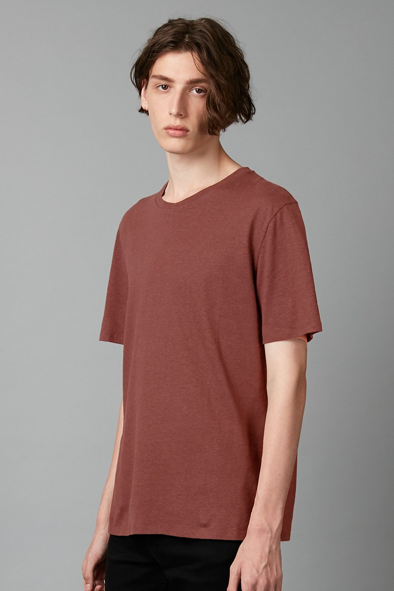 RUST BAER HEMP COTTON TSHIRT