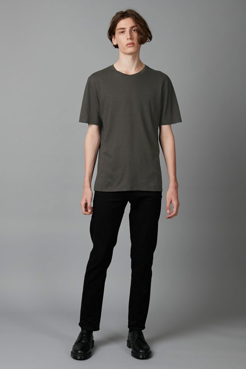WARM KHAKI BAER HEMP COTTON TEE