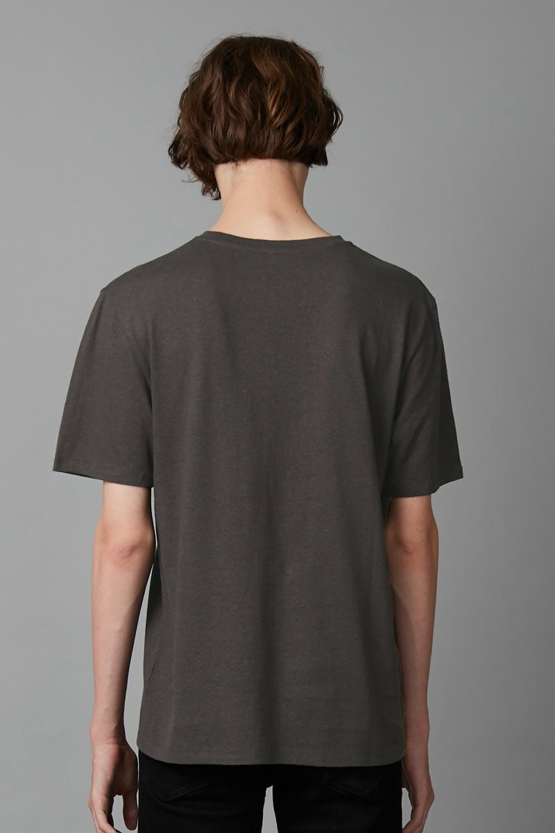 WARM KHAKI BAER HEMP COTTON TEE - Nique Clothing
