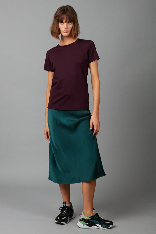 BLACKCURRANT RINJI COTTON MODAL TEE