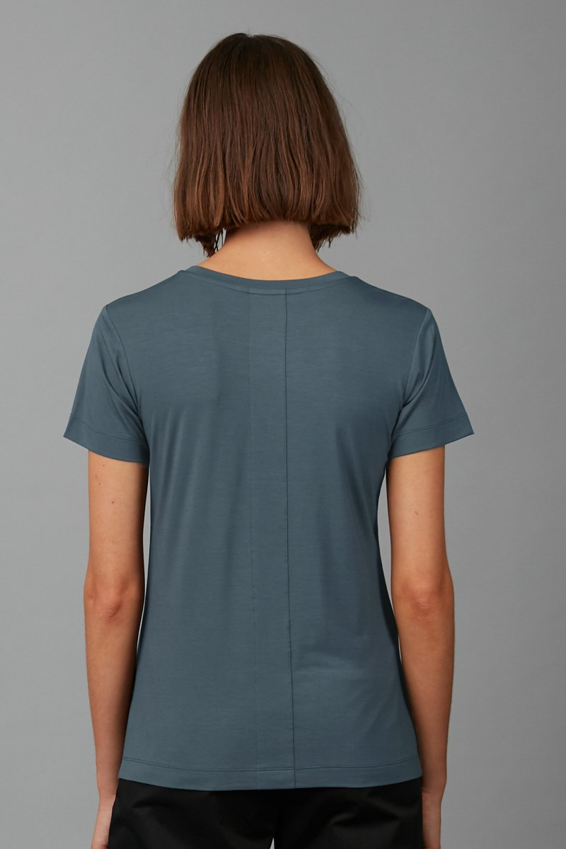 MIRAGE BLUE COTTON MODAL RINJI TEE - Nique Clothing