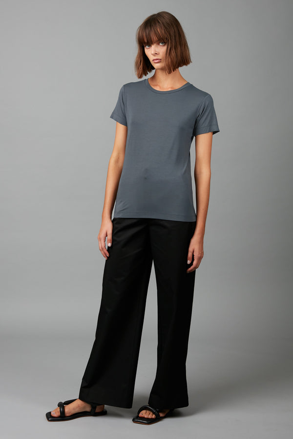 MIRAGE BLUE COTTON MODAL RINJI TEE